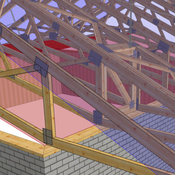 3d Drawings Nuneaton Roof Truss