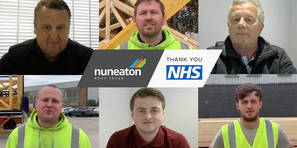 Nuneaton Roof Truss, NHS Thank You Campaign